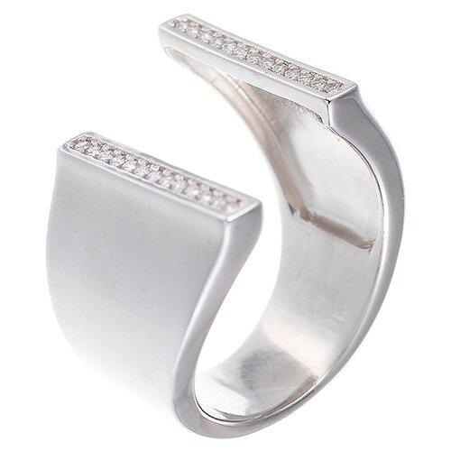 Фото - ELEMENT47 Широкое ювелирное кольцо из серебра 925 пробы с кубическим цирконием SR-B02000_001_WG, размер 18 element47 широкое ювелирное кольцо из серебра 925 пробы с кубическим цирконием 05s2azr104804curi 001 wg размер 18