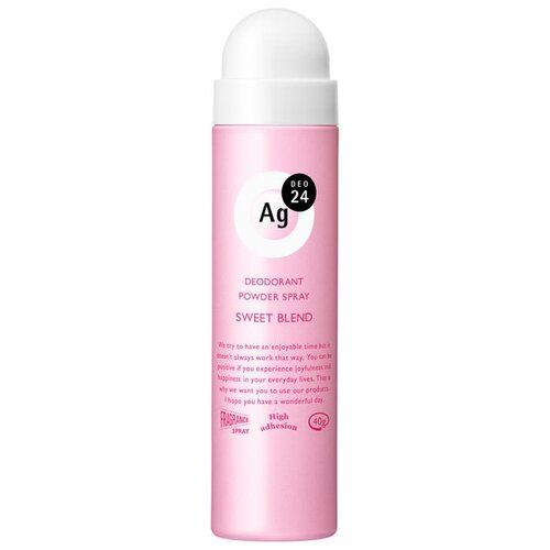 Shiseido дезодорант-антиперспирант, спрей, Ag DEO24 Sweet Blend, 40 г