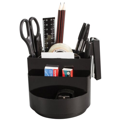 Канцелярский набор ErichKrause Mini Burger (95), 15 пр., черный, Офисные наборы  - купить со скидкой