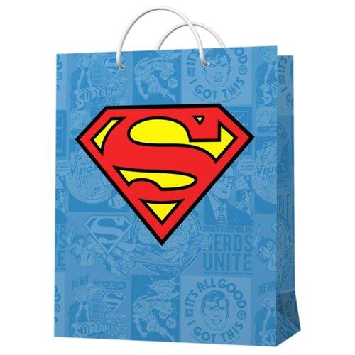 Фото - Пакет подарочный ND Play Superman 22 х 31 х 10 см голубой пакет подарочный nd play lol 25 х 35 х 10 см мятный розовый