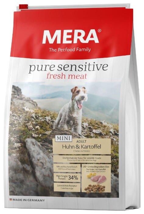 Корм для собак Mera (1 кг) Pure Sensitive Fresh Meat Mini с курицей и картофелем для взрослых собак