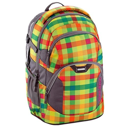 Coocazoo Рюкзак JobJobber2 Hip To Be Square (00129884), зеленый/оранжевый coocazoo рюкзак jobjobber2 bartik 00138718 зеленый розовый