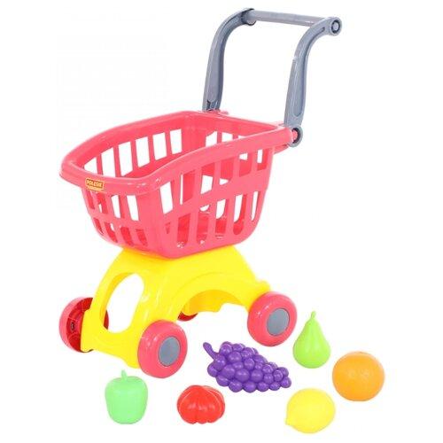 Купить Тележка для покупок Полесье с продуктами (71378), Играем в магазин