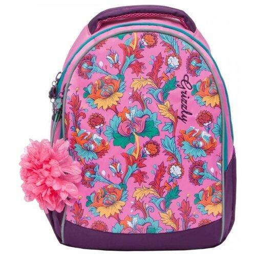 Рюкзак Grizzly RD-836-1 12 розовый рюкзак городской grizzly цвет черный фуксия rd 831 2 3