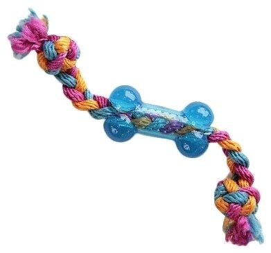 Косточка для собак GiGwi Dog Toys на веревке (75252)