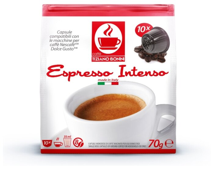 Кофе в капсулах Tiziano Bonini Espresso Intenso (10 капс.)