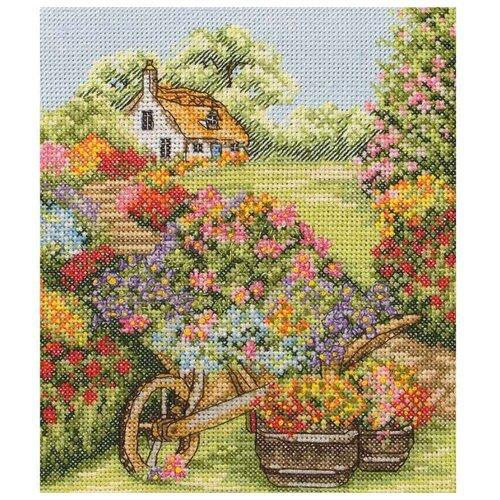 Купить Anchor Набор для вышивания Тачка с цветами 19, 5 x 16, 5 см (PCE749), Наборы для вышивания