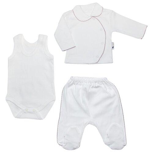 Комплект одежды Клякса размер 62, белыйКомплекты<br>