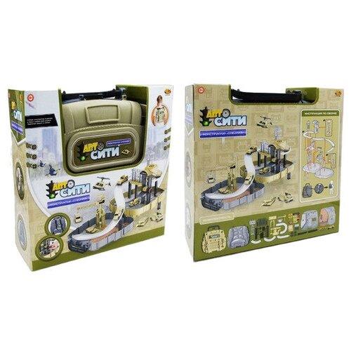 Купить Трек ABtoys Трек в рюкзаке Военная база PT-01102, Детские треки и авторалли