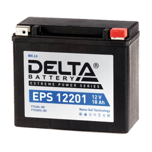 Мото аккумулятор DELTA Battery EPS 12201 аккумулятор delta battery gel 12 55