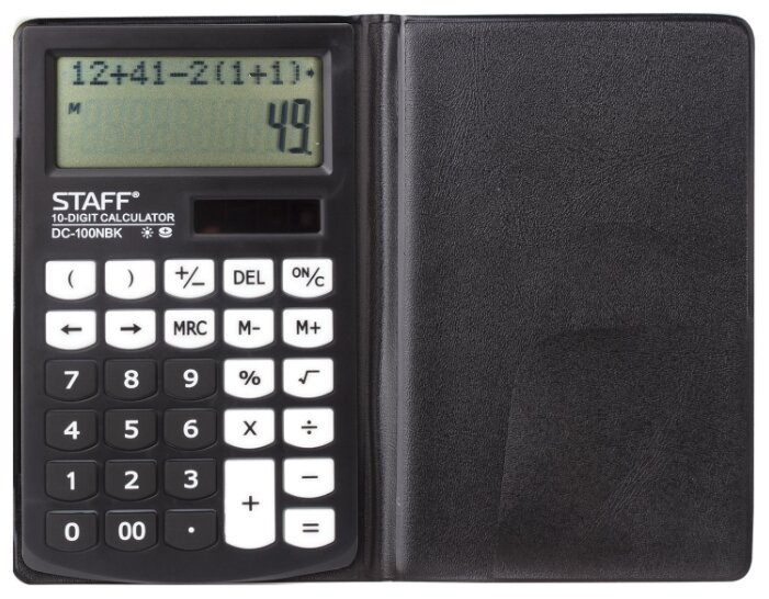 Калькулятор карманный STAFF PLUS DC-100NBK
