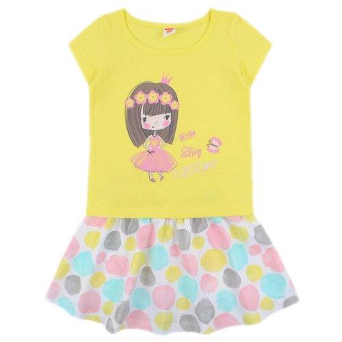 Комплект одежды Optop размер 128, бледно-желтый, круги на сахаре комплект одежды optop размер 134 бледно желтый круги на сахаре