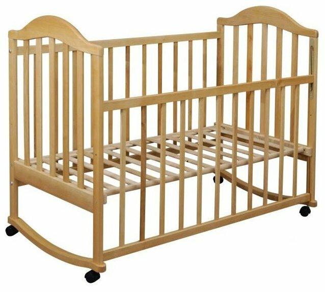 Кроватка Ласка-М Наполеон (без ящика) (качалка), на полозьях