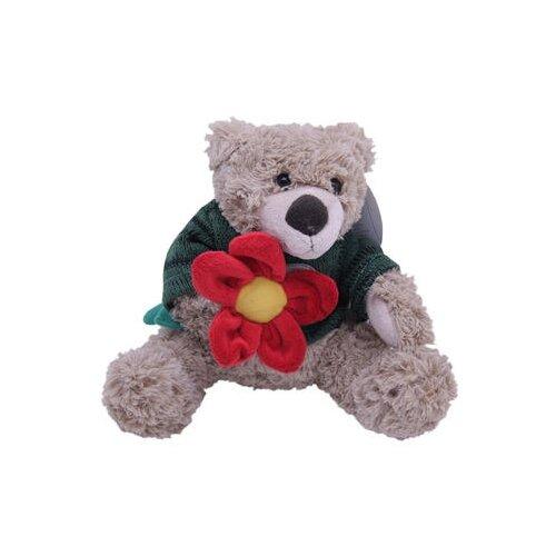 Мягкая игрушка Magic Bear Toys Мишка Тед в свитере c цветком 20 смМягкие игрушки<br>