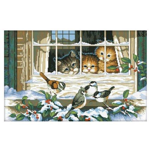 Купить Белоснежка Набор для вышивания Кошачий интерес 46, 5 x 30 см (2337), Наборы для вышивания