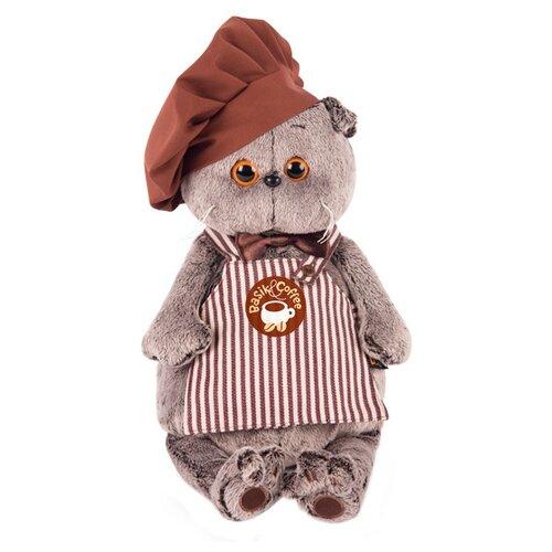 Купить Мягкая игрушка Basik&Co Кот Басик бариста 25 см, Мягкие игрушки