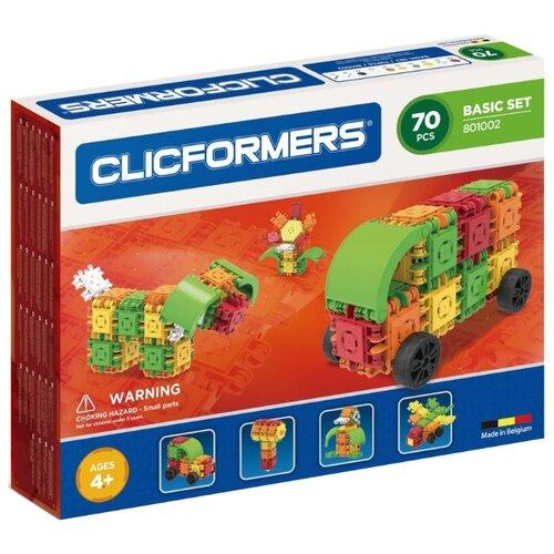 цена Магнитный конструктор Magformers Clicformers 801002 Basic Set 70 онлайн в 2017 году