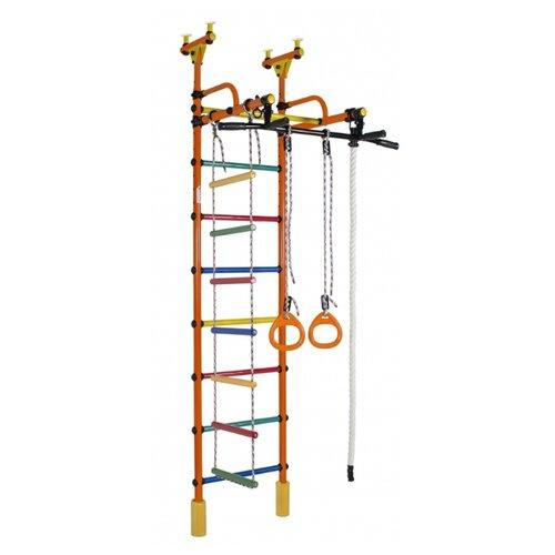 Купить Спортивно-игровой комплекс Формула здоровья Жирафик Турник-1, оранжевый/радуга, Игровые и спортивные комплексы и горки