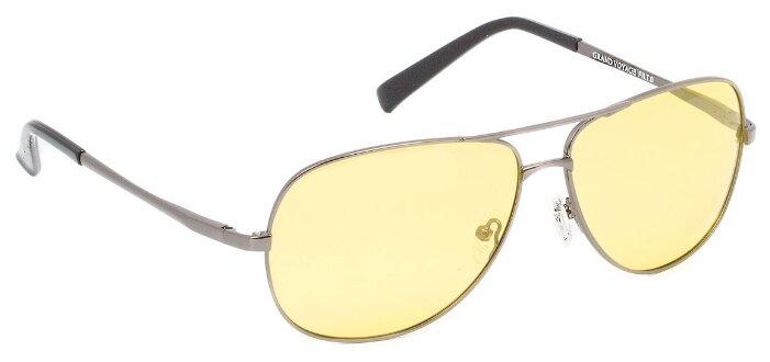 Очки для водителей GRAND VOYAGE 1701, без диоптрий, цвет оправы: серебристый, цвет линз: синий
