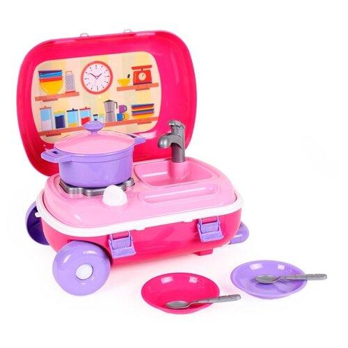 Купить Игровой набор ТехноК 6061 розовый, Детские кухни и бытовая техника