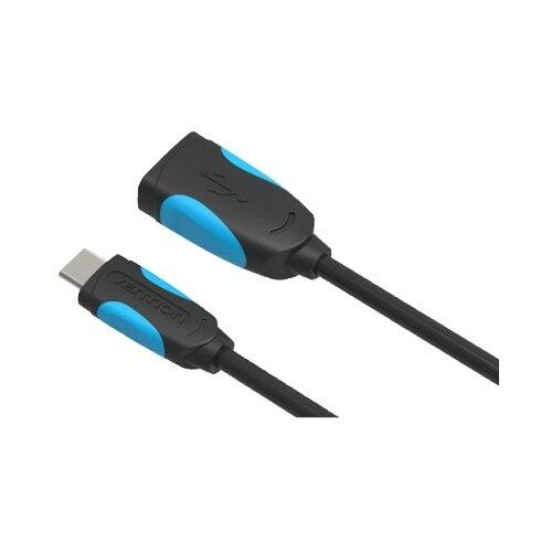 Кабель Vention OTG USB - USB Type-C (VAS-A50-B) 0.1 м черный samsung ee hg950d usb type c hdmi черный