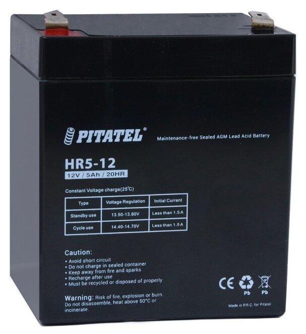 Аккумуляторная батарея Pitatel HR5-12 5 А·ч — купить по выгодной цене на Яндекс.Маркете