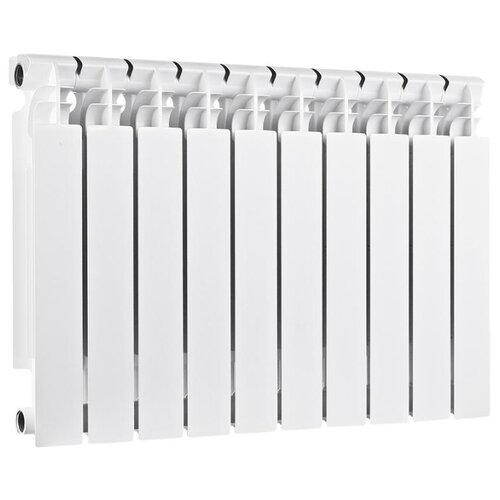 Радиатор секционный биметаллический Halsen BS 500/100 x10 теплоотдача 2040 Вт, подключение боковое правое RAL 9016 биметаллический радиатор rifar рифар b 500 нп 10 сек лев кол во секций 10 мощность вт 2040 подключение левое