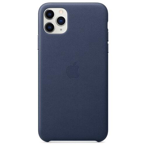цена на Чехол Apple кожаный для Apple iPhone 11 Pro Max темно-синий