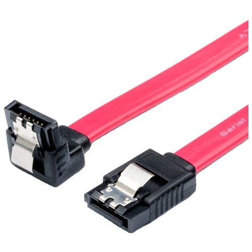 Кабель Atcom SATA - SATA (АТ0108) 0.5 м красныйКомпьютерные кабели, разъемы, переходники<br>