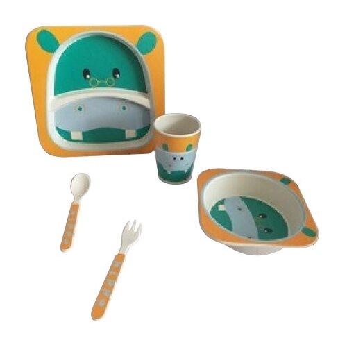 Комплект посуды Baby Ryan BF001 бегемотик