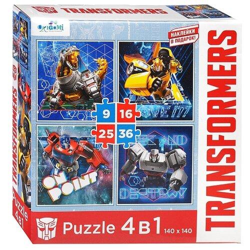 Купить Набор пазлов Origami Трансформеры Не стой на месте + наклейки (4882), Пазлы