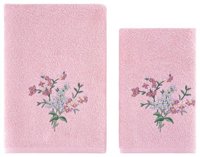 Комплект махровых полотенец KARNA VIOLIN 50x90-70х140 см 3236/CHAR001 Кремовый