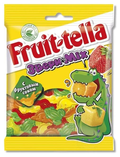 Мармелад Fruit-tella Звери Mix ассорти 70 г