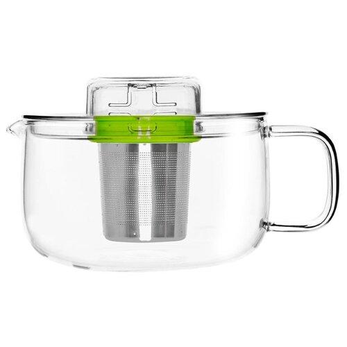 QDO Заварочный чайник Me Pot 5676508 500 мл, прозрачный/зеленый