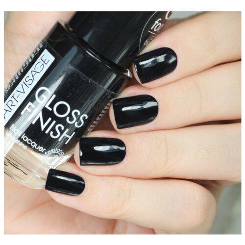Лак ART-VISAGE Gloss Finish Nail Lacquer 8.5 мл. 123 черная пантераЛак для ногтей<br>