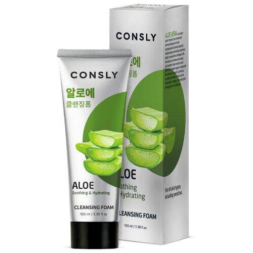 Купить Consly пенка для умывания успокаивающая c экстрактом алоэ вера Aloe Soothing & Hydrating, 100 мл