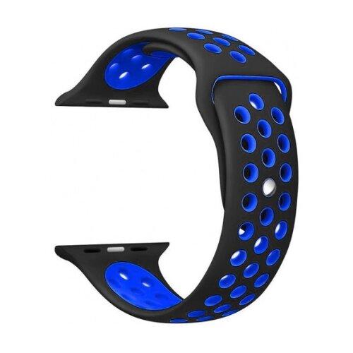 Купить CARCAM Ремешок для Apple Watch 38mm Nike Silicon Loop черный/синий