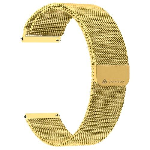 Фото - Lyambda Универсальный ремешок из нержавеющей стали Capella для часов 20 mm gold смотреть ремешок ремешок весна бар ссылка pin remover ремонт инструмента из нержавеющей стали