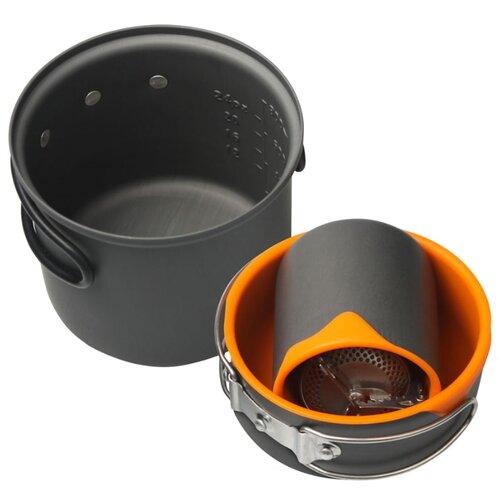 Набор туристической посуды ECOS CW005, 4 шт. черный/оранжевый