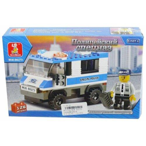 Купить Конструктор SLUBAN Полицейский спецназ M38-B0273 Автозак, Конструкторы