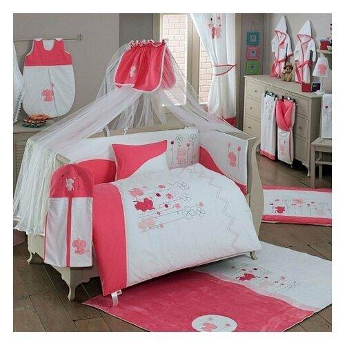 Купить Комплект из 6 предметов серии Elephant (Pink), Kidboo, Постельное белье и комплекты