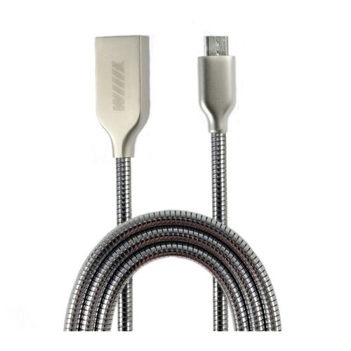 Кабель WIIIX USB - microUSB (CB850-UMU-Z-10) 1 м серебристый