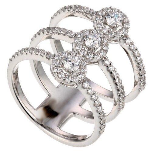 Фото - JV Серебряное кольцо с кубическим цирконием DM1305R-KO-001-WG, размер 18 jv серебряное кольцо с кубическим цирконием dm0026r ko 001 wg размер 18