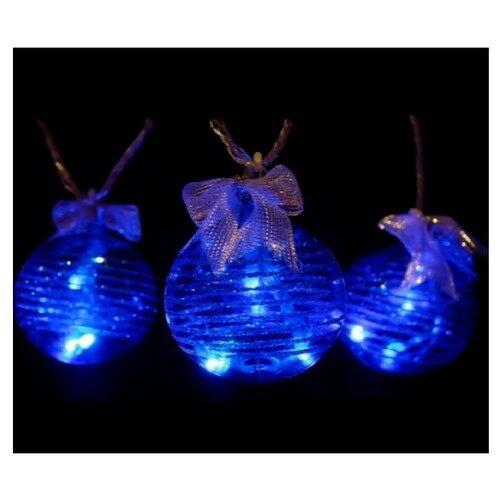 Гирлянда Sh Lights Шарики, 200 см, BAL18, 6 ламп, синий/прозрачный провод
