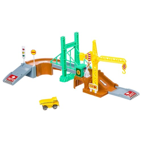 Купить Yako Строительная площадка M7988-2 серый/коричневый/зеленый/желтый, Детские парковки и гаражи
