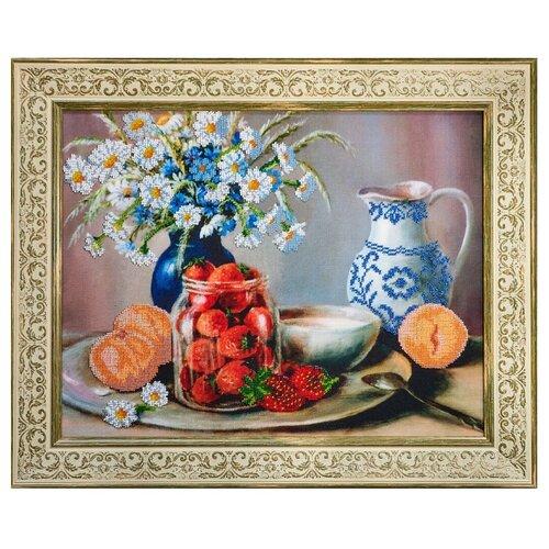Ажур Набор для вышивания бисером Летний десерт 45 х 35 см (Б-0008) набор для вышивания galla collection бисером икона спас нерукотворный 23 x 27 см
