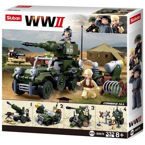 Конструктор SLUBAN WW2 M38-B0679 Военная техника 4 в 1 конструктор sluban ww2 m38 b0682 газ 67