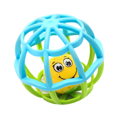 Купить Развивающая игрушка Азбукварик Музыкальный мячик Хохотуша голубой/зеленый, Развивающие игрушки