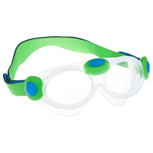 маска для плавания madwave junior flame mask цвет розовый Очки-маска для плавания MAD WAVE Kids bubble mask green