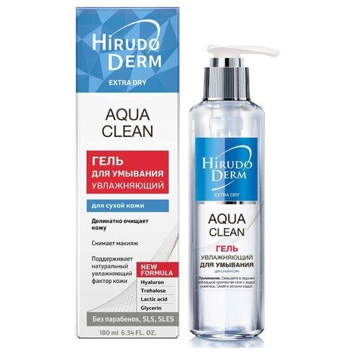 Фото - Hirudo Derm гель для умывания увлажняющий для лица Aqua Clean HD-Extra Dry, 180 мл hirudo derm крем гель пенящийся для умывания для лица sensi clean hd sensitive 180 мл
